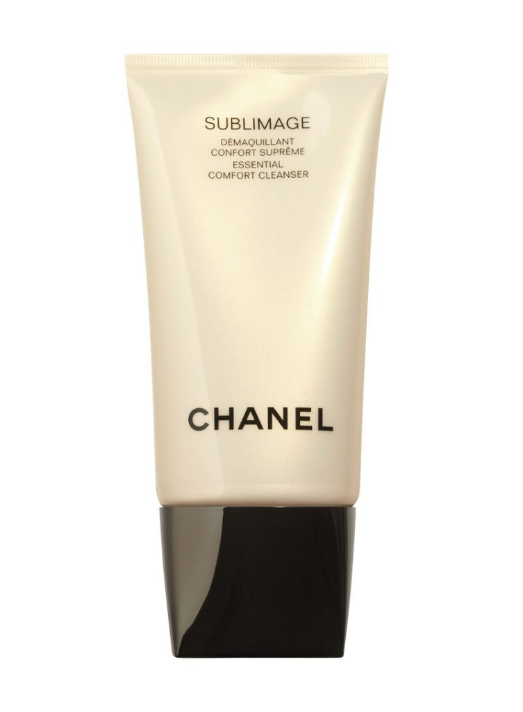 Khăn tẩy trang với Sữa rửa mặt Chanel Sublimage Essential Comfort Cleanser