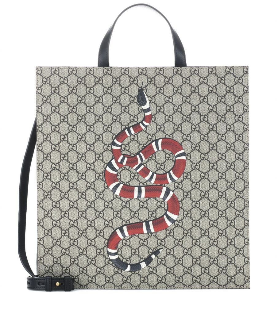 Túi tote Gucci phụ kiện da rắn