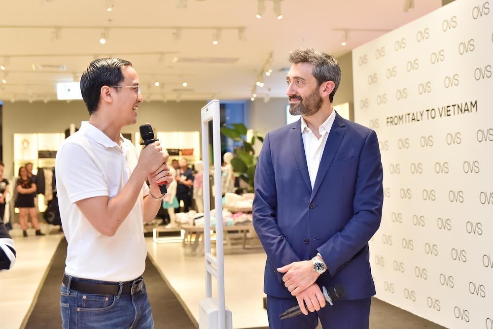 Vợ chồng Tăng Thanh Hà rạng rỡ tại sự kiện khai trương cửa hàng OVS đầu tiên 10