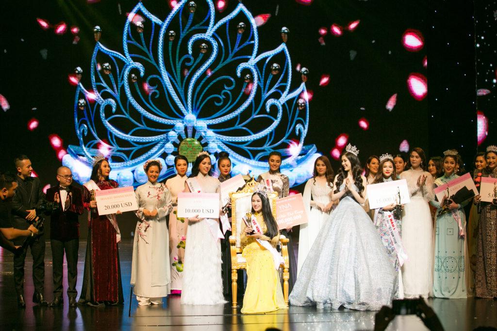 Khoảnh khắc đăng quang của tân Hoa hậu Áo dài Việt Nam 2019
