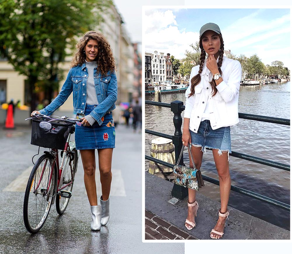 Cách phối đồ với áo khoác denim giúp bạn trông thời thượng như fashionista tại các tuần lễ thời trang.