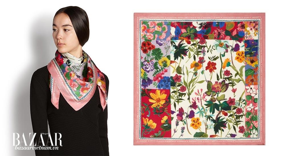 Salvatore Ferragamo ra mắt nhiều mẫu khăn lụa mới cho mùa Xuân Hè 2019, và đây chỉ là một lựa chọn cho bạn