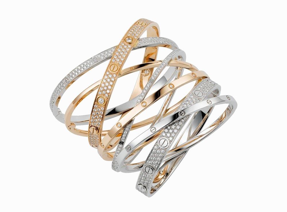 Các mẫu vòng Cartier Love
