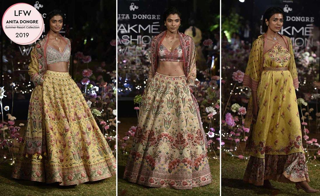 Các thiết kế haute couture sử dụng vải Tencel của Anita Dongre, xuất hiện trong tuần lễ thời trang Lakme tại Ấn Độ. Nguồn ảnh: Lakme Fashion Week