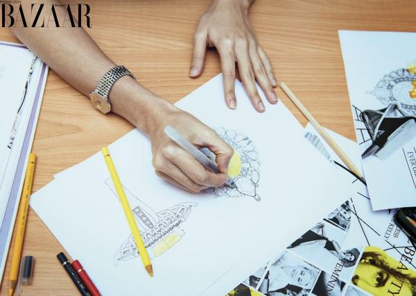Công đoạn lên ý tưởng và phác thảo bản vẽ thô tại CAO Fine Jewellery
