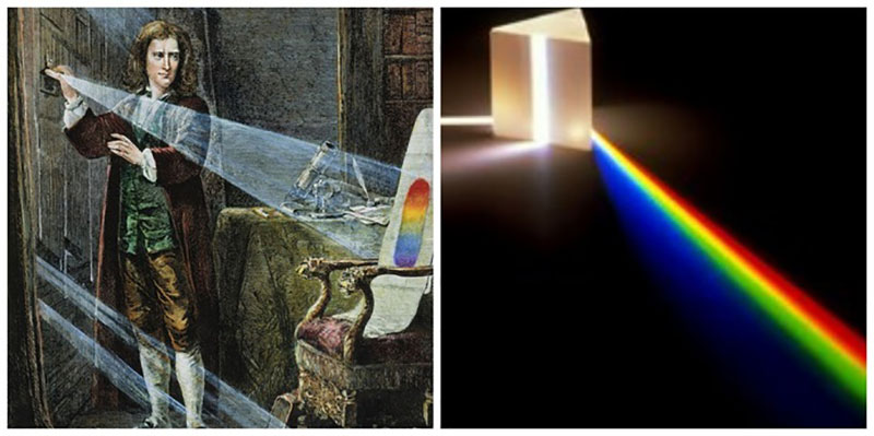 Isaac Newton, người đầu tiên phát triển thuyết chia màu trong ánh sáng
