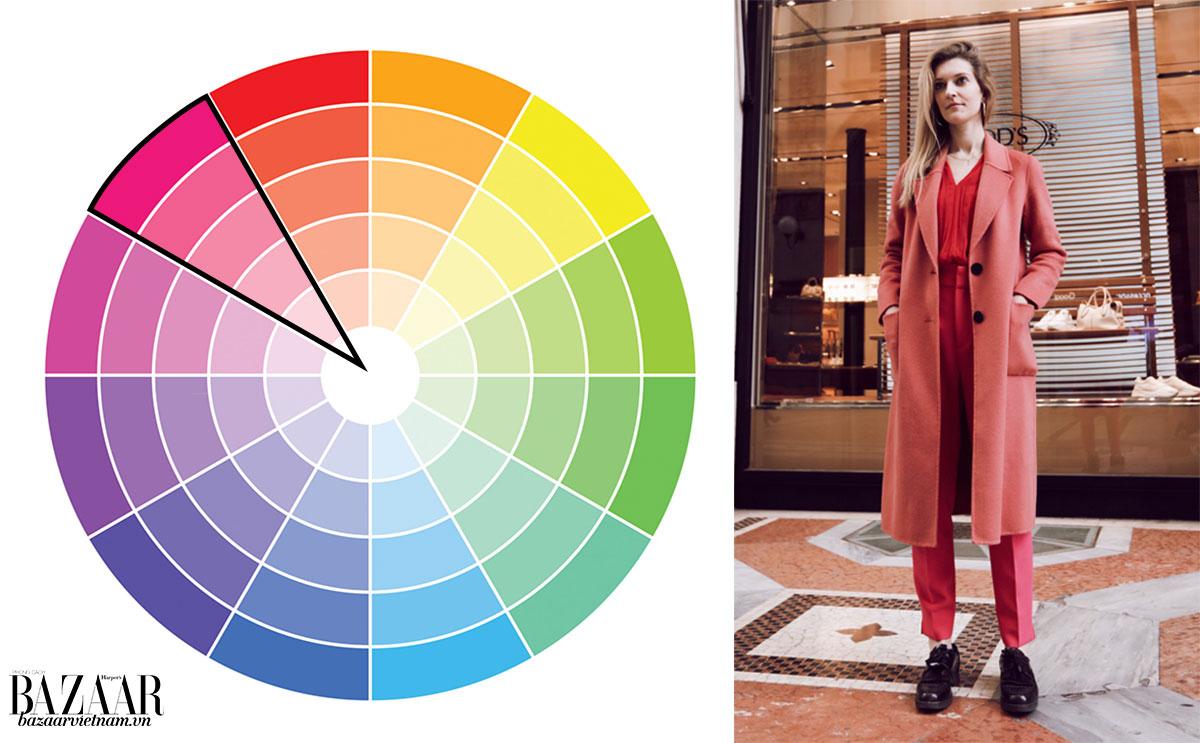 Cách phối đồ theo bánh xe màu sắc 1: Đơn sắc (monochromatic)