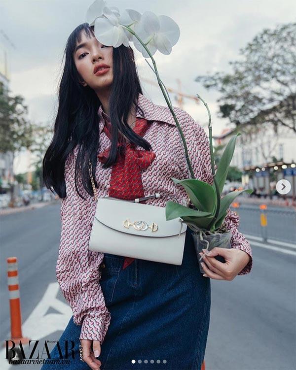 Fashionista Châu Bùi, túi Gucci Zumi, Instagram 03/2019