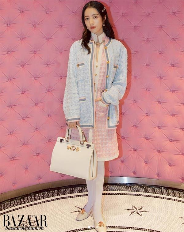 Diễn viên Châu Vũ Đồng, túi Gucci Zumi, Instagram 03/2019
