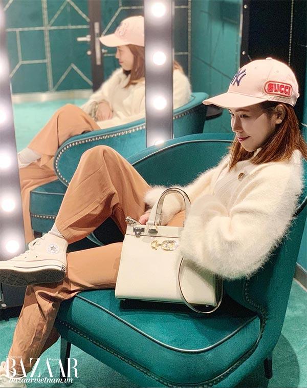 Một fashionista (Elly Kao), diện túi Gucci Zumi, Instagram ellykao0825 03/2019