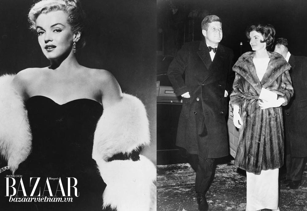 Những biểu tượng gắn liền với thời trang lông thú tại New York: Marilyn Monroe, Jacqueline Kennedy
