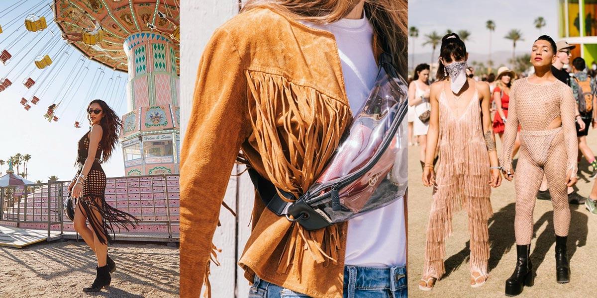 Trang phục street style tua rua thường xuyên góp mặt tại Coachella.
