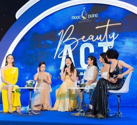 Bà Võ Thị Ngọc Dung, Tổng Giám đốc Hệ thống TMV Ngọc Dung đón tiếp diễn viên Châu Hải My đến tham quan TMV của mình