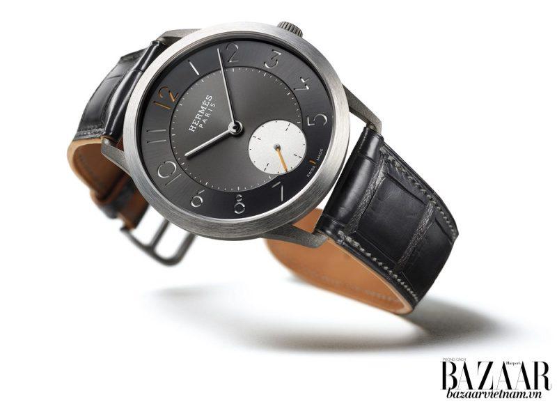 Đồng hồ Slim d'Hermès Titane