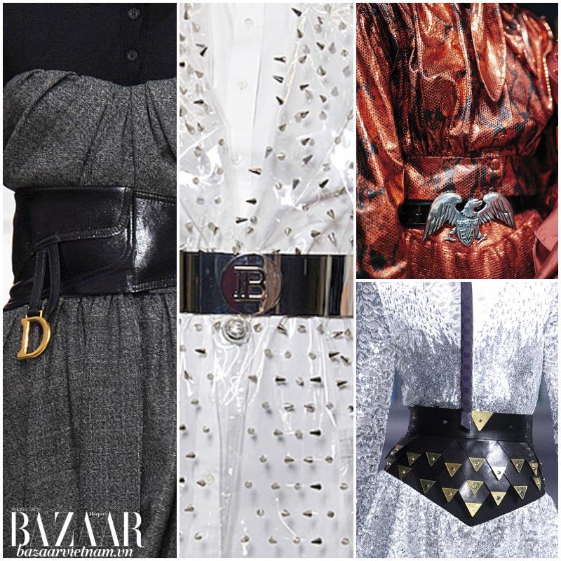 Xu hướng thời trang thu đông 2019: Dây nịt to bản