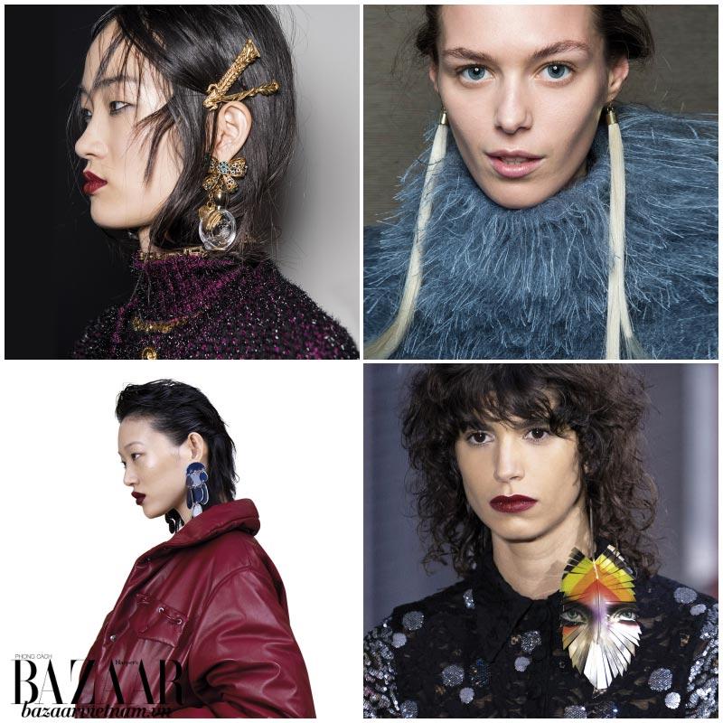 Xu hướng thời trang Thu Đông 2019 hoa tai dài