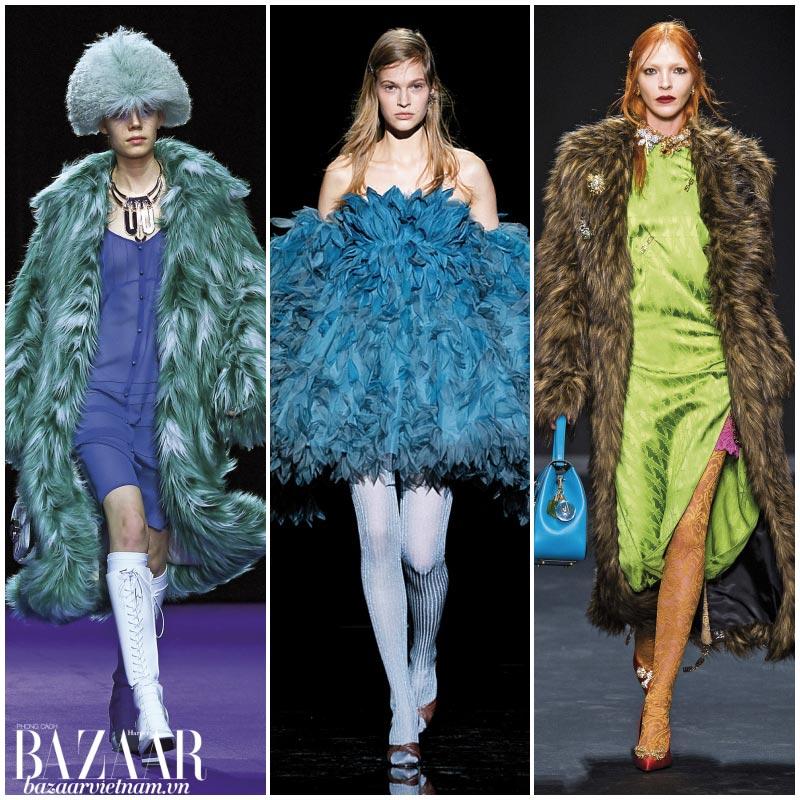Xu hướng thời trang Thu Đông 2019: Lông Vũ