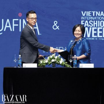PHỎNG VẤN AQUAFINA HẬU VIETNAM INTERNATIONAL FASHION WEEK SS2019