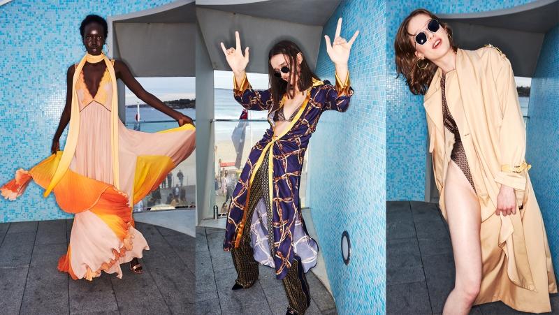 Hình ảnh hậu trường vui tươi và thoải mái của các người mẫu trong buổi diễn của Jonathan Simkhai