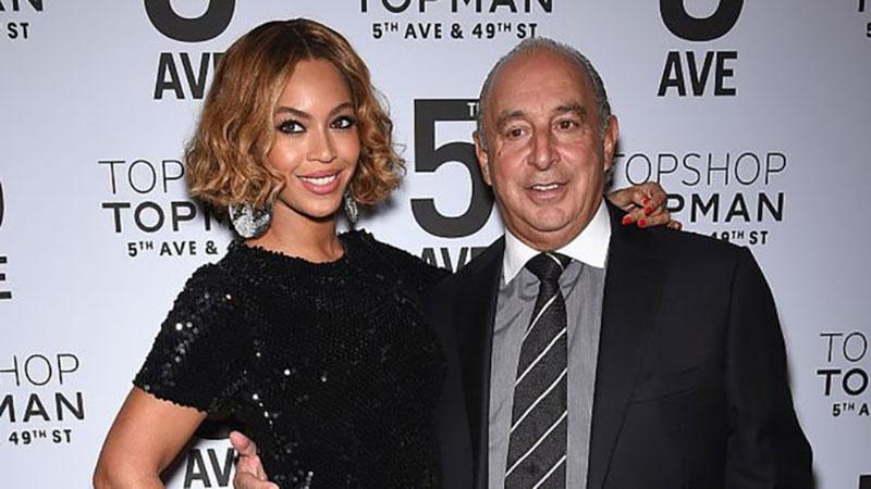 Beyoncé và ngài Philip Green tại buổi lễ ra mắt Topshop, Topman tại Mỹ