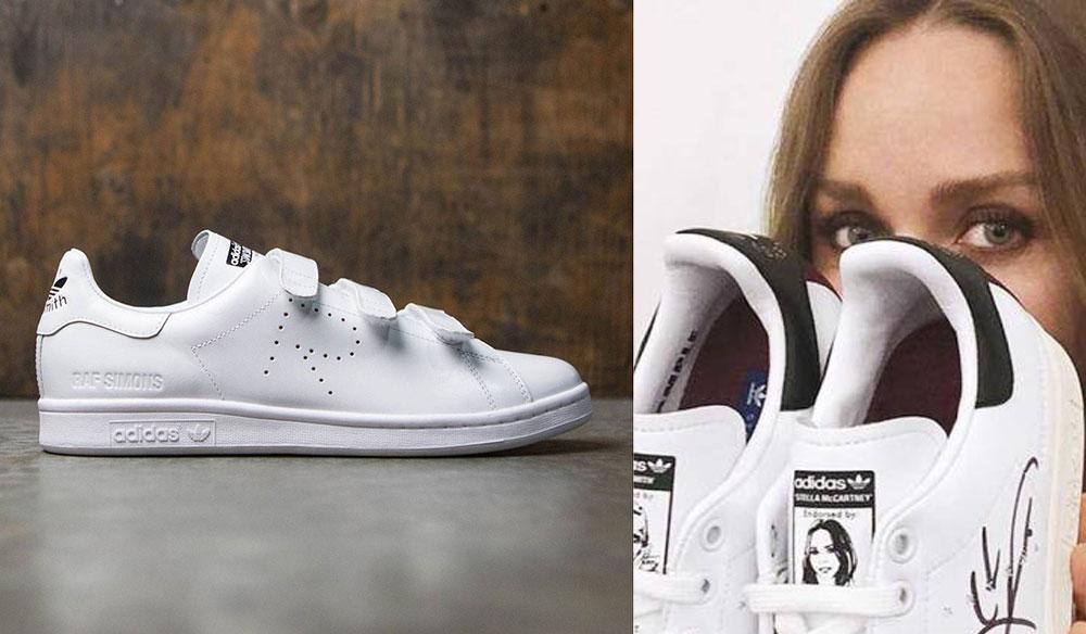Dòng giày Stan Smith của Adidas được liệt kê vào hàng giày thể thao sang trọng khi kết hợp với Raf Simons và Stella McCartney.