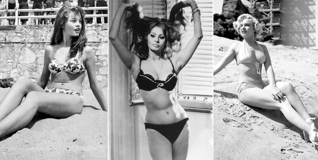 Lịch sử bikini: Brigitte Bardot, Sophia Loren, Marilyn Monroe