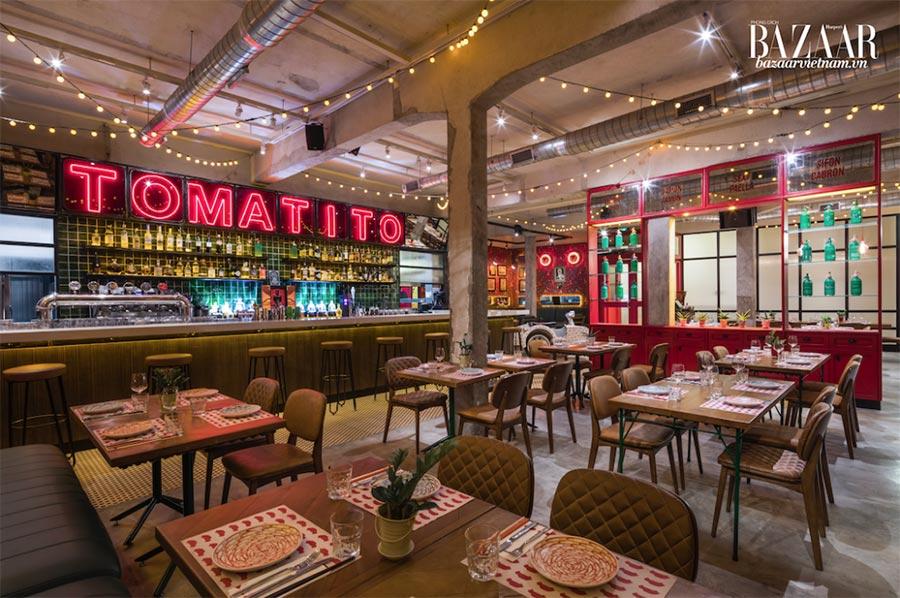 Không gian tươi vui của nhà hàng Tomatito