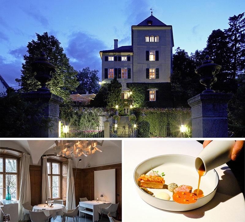 Nhà hàng Schloss Schauenstein nằm trong một toà lâu đài Thụy Sỹ cổ