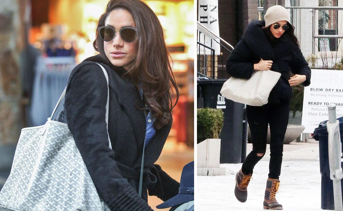 Công nương Meghan Markle với chiếc túi tote Goyard yêu thích