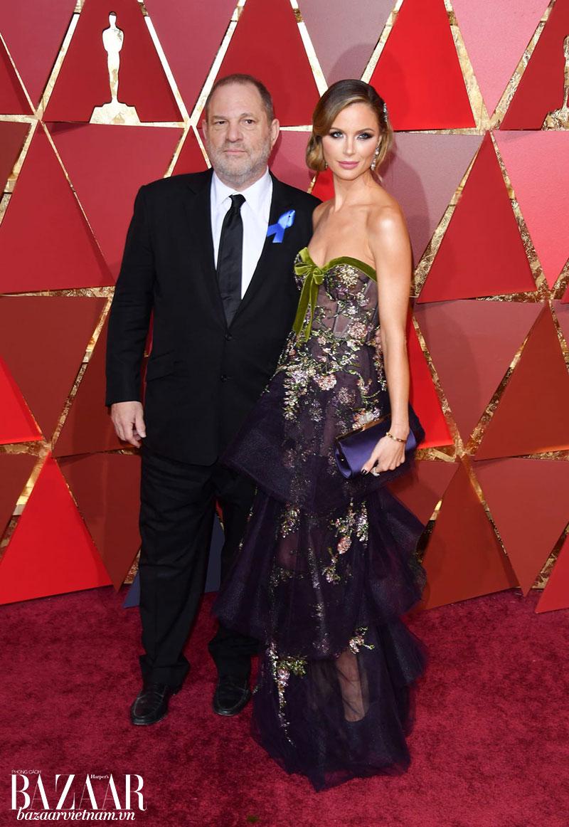 Harvey Weinstein (trái) và vợ Georgina Chapman (phải)