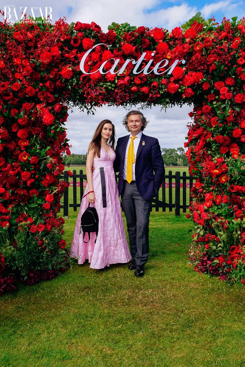 Kelly England Prehn bên ông Laurent Feniou, tổng giám đốc toàn cầu của Cartier