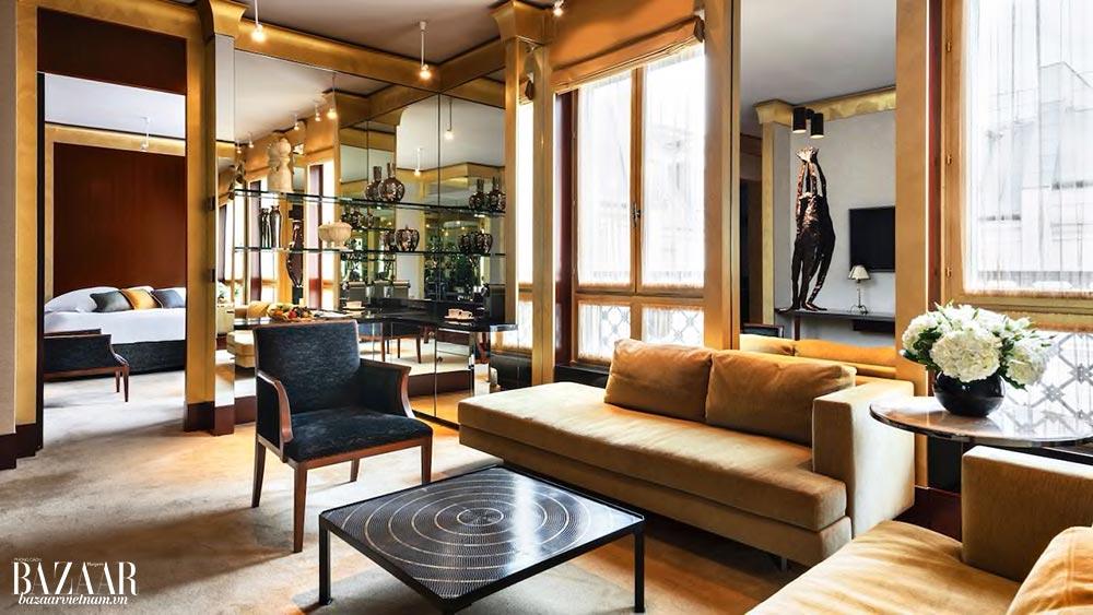 Màu sắc và chất liệu ấm cúng điểm xuyết các phòng suite hiện đại của khách sạn sang trọng Paris Park Hyatt