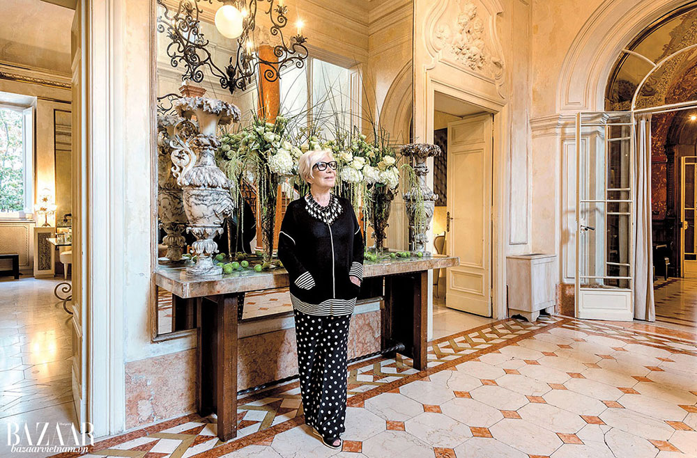 Nhà thiết kế thời trang Anna Fendi tại Villa Laetitia