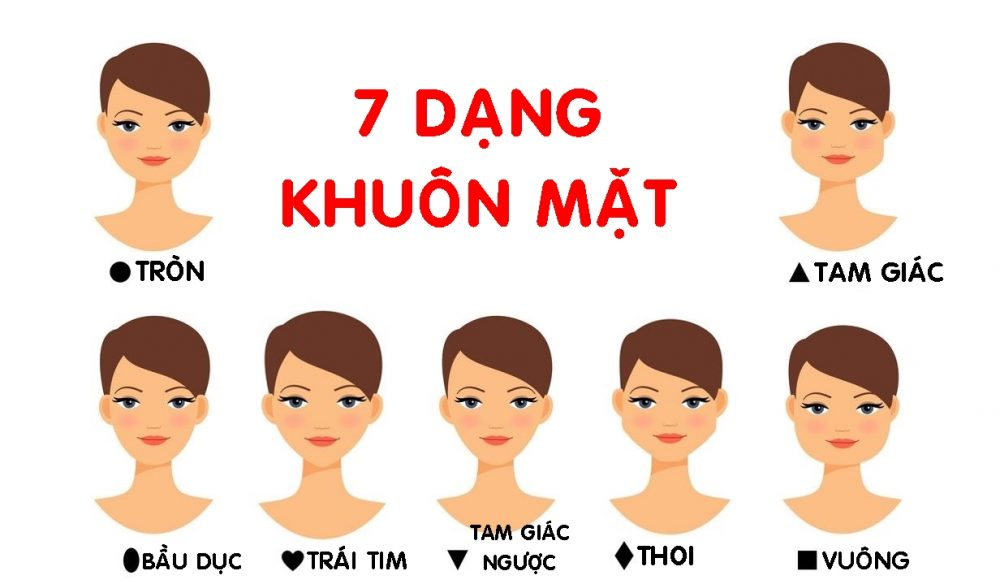 Các hình dạng khuôn mặt tiêu biểu