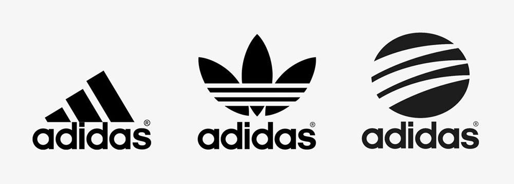 Các phiên bản logo Adidas đến có thiết kế 3 sọc