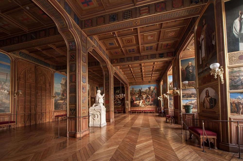 Thiết kế nội thất của những căn phòng Thập tự chinh. Ảnh: Versailles