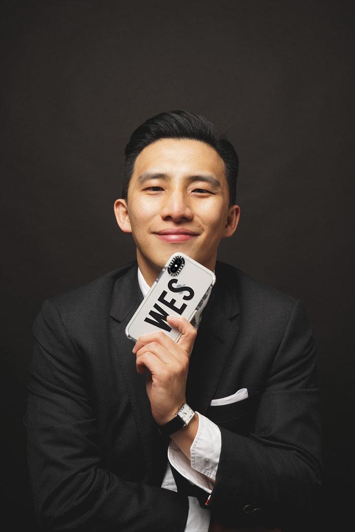 Anh Wesley Ng và chiếc vỏ ốp điện thoại có một không ai
