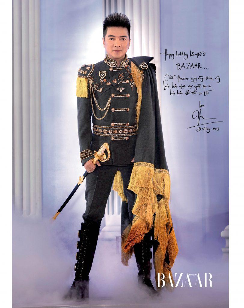 """Đàm Vĩnh Hưng, ông hoàng nhạc Việt: """"Chúc Bazaar ngày càng thành công, luôn luôn được mọi người tin yêu. Luôn là tạp chí dẫn đầu xu thế!"""""""