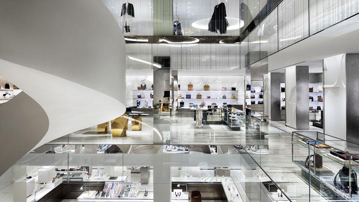 Thiết kế nội thất sang trọng bên trong một cửa hàng Barney's New York
