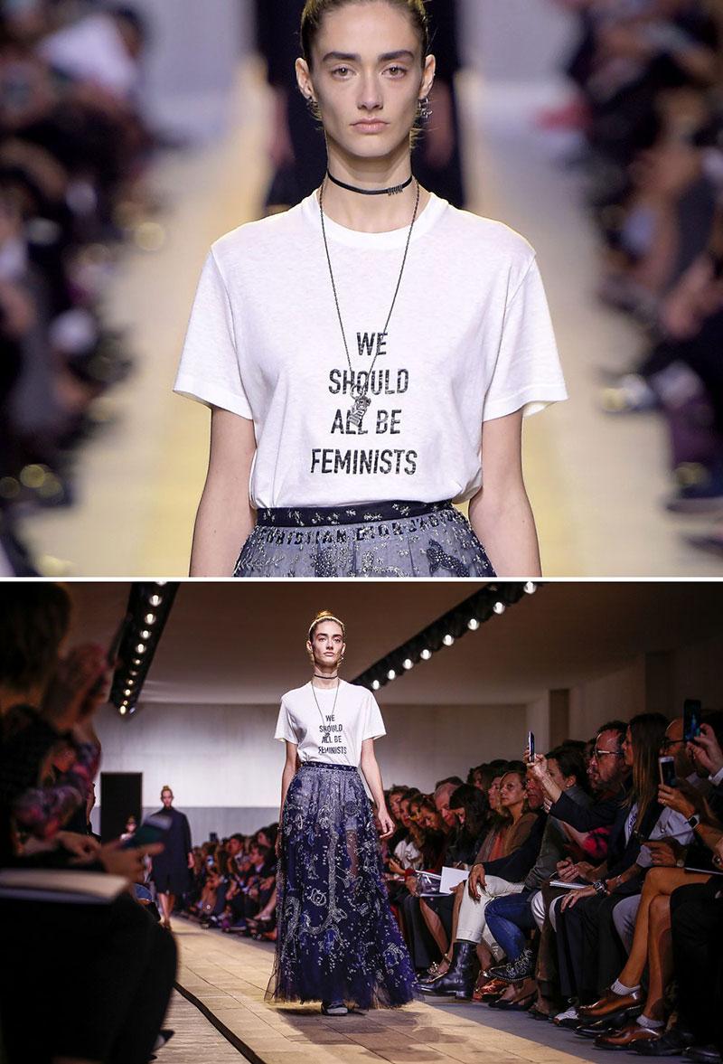 """Chiếc áo """"Chúng ta đều nên ủng hộ nữ quyền"""" làm nên tên tuổi Maria Grazia Chiuri của Dior"""