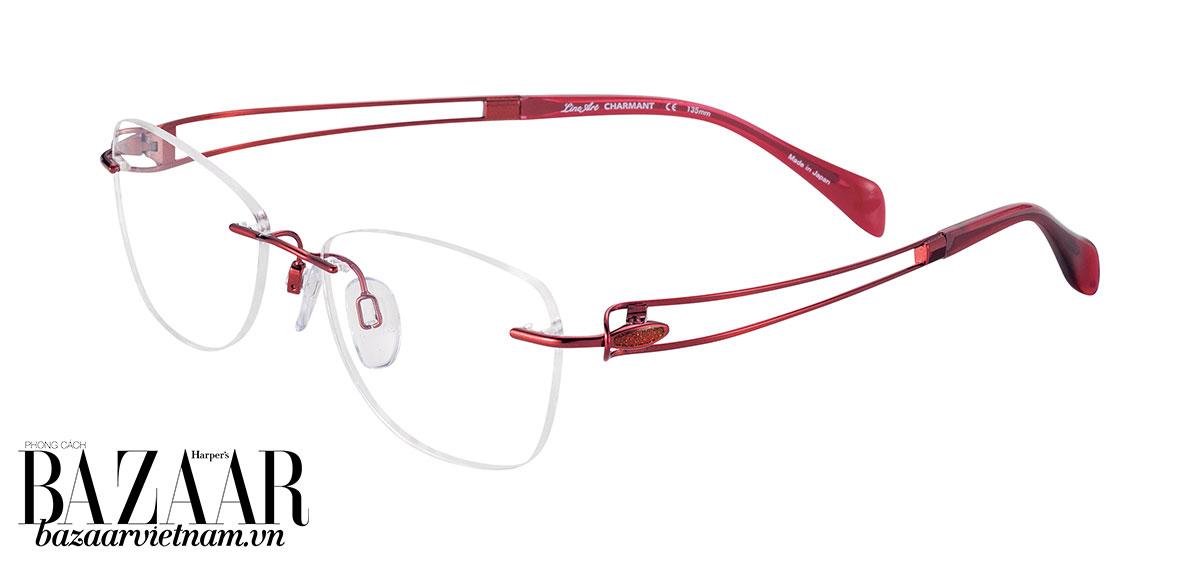 Line Art CHARMANT XL2141: Thiết kế không vành đơn giản cùng càng kính mềm mại, nhẹ nhàng