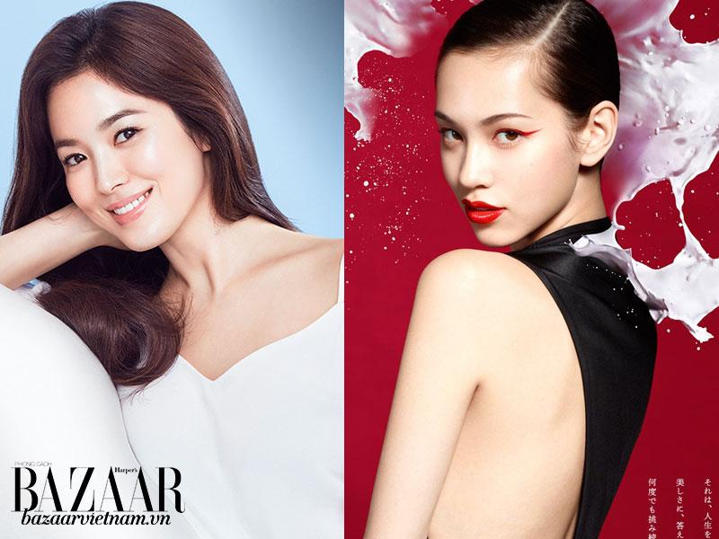 Chọn mỹ phẩm Hàn như Song Hye Ko hay mỹ phẩm Nhật như Kiko Mizuhara?