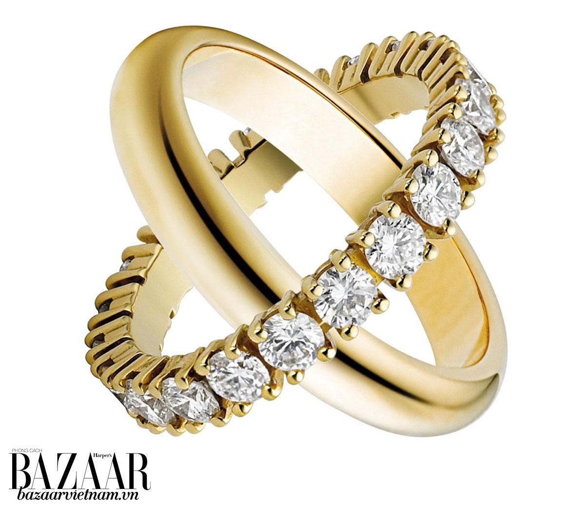 Nhẫn cưới và nhẫn đính hôn Cartier có nhiều lựa chọn về mặt kim loại, từ vàng trắng, vàng hồng hay vàng 18k