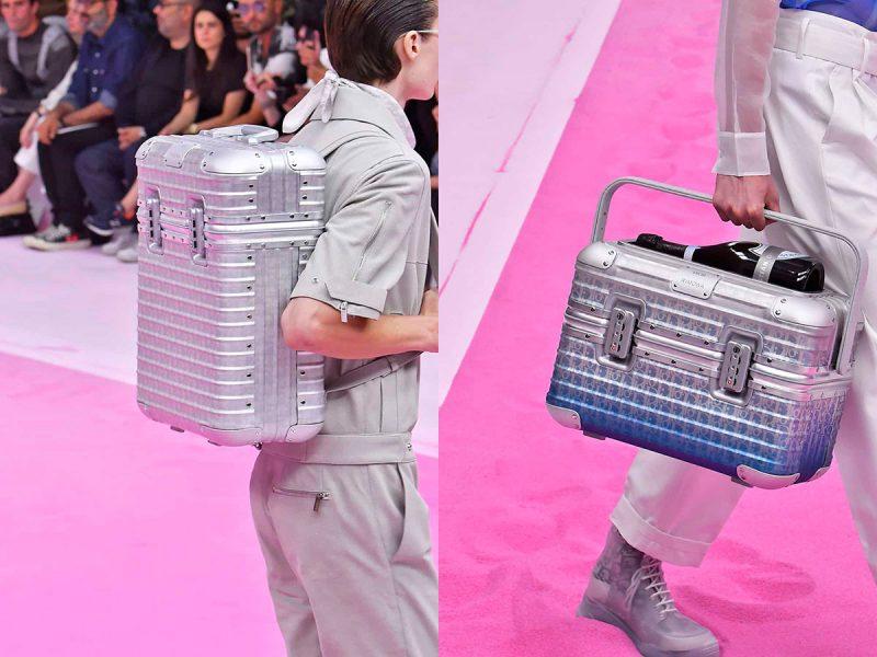 Vali Rimowa trên sàn diễn BST Mùa hè 2020 của Dior. Ảnh: Fashion Week Daily.