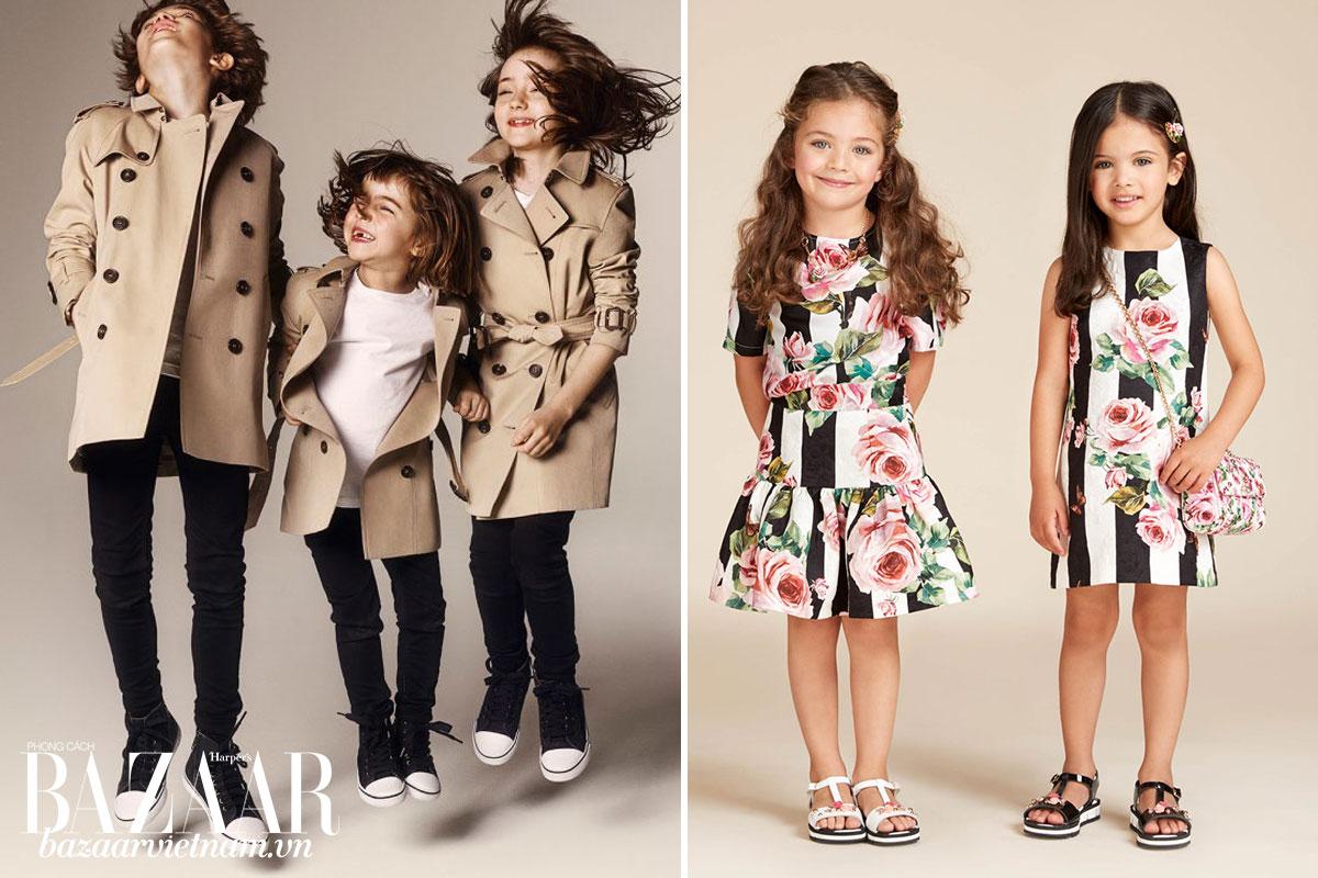 Các thương hiệu Burberry và Dolce & Gabbana phiên bản mini