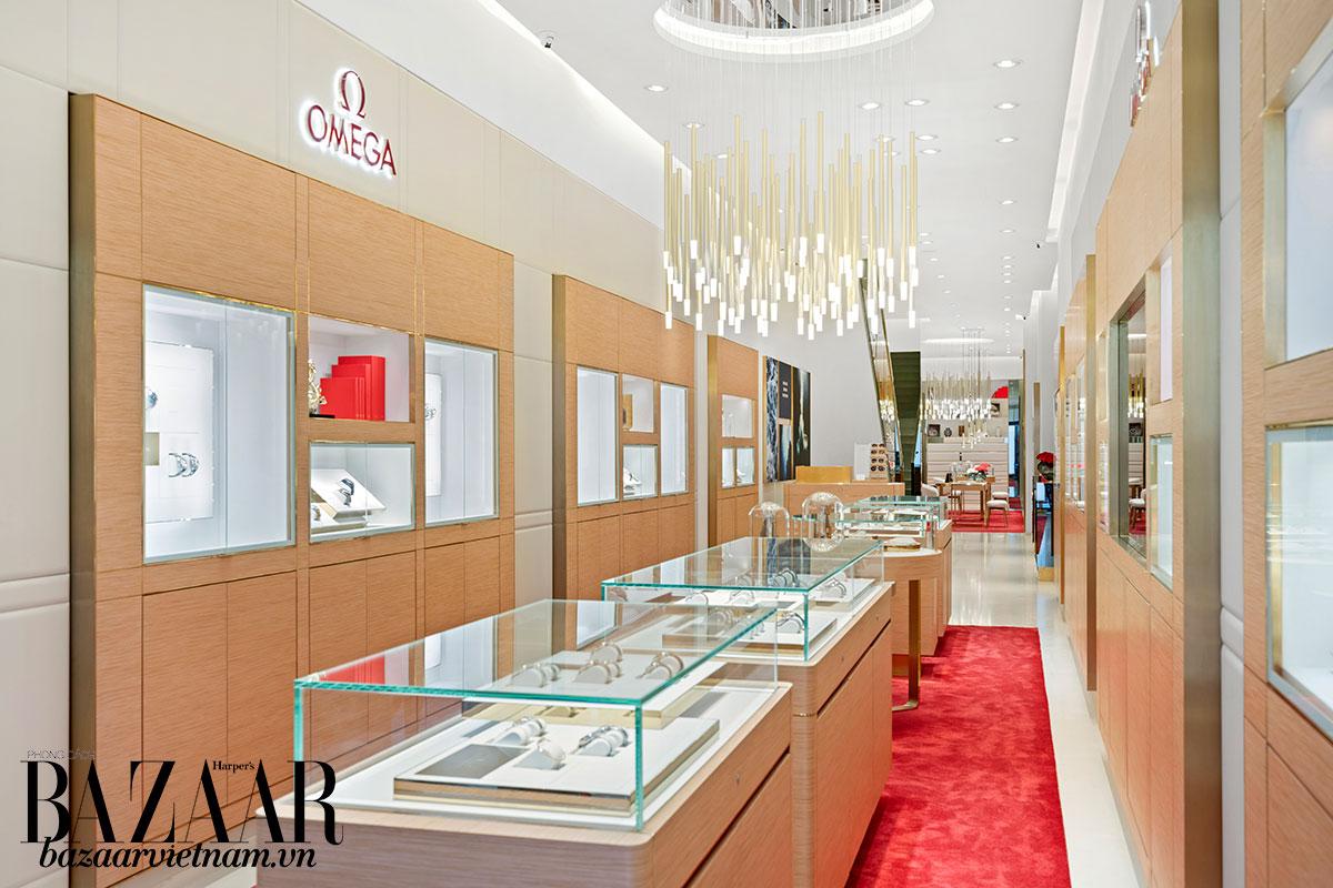 Diện mạo mới của cửa hàng đồng hồ OMEGA mới