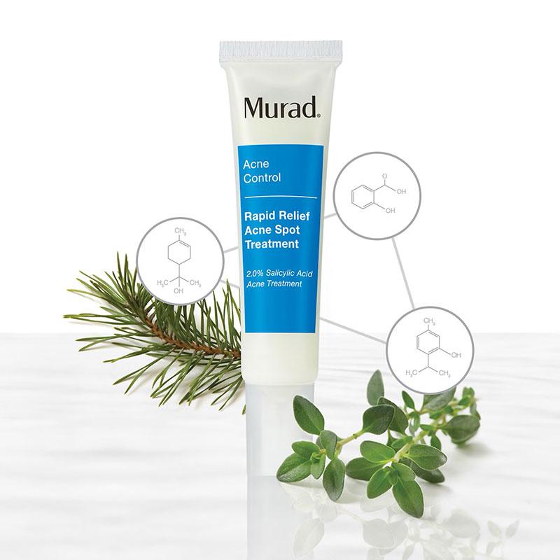 Murad Rapid Relief Acne Spot Treatment. Gel trị mụn có chứa salicylic acid, giúp kháng khuẩn, làm sạch lỗ chân lông và ngăn ngừa mụn tái phát