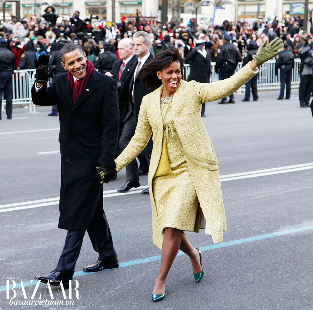 Vợ chồng cựu tổng thống Obama lúc nhậm chức năm 2009