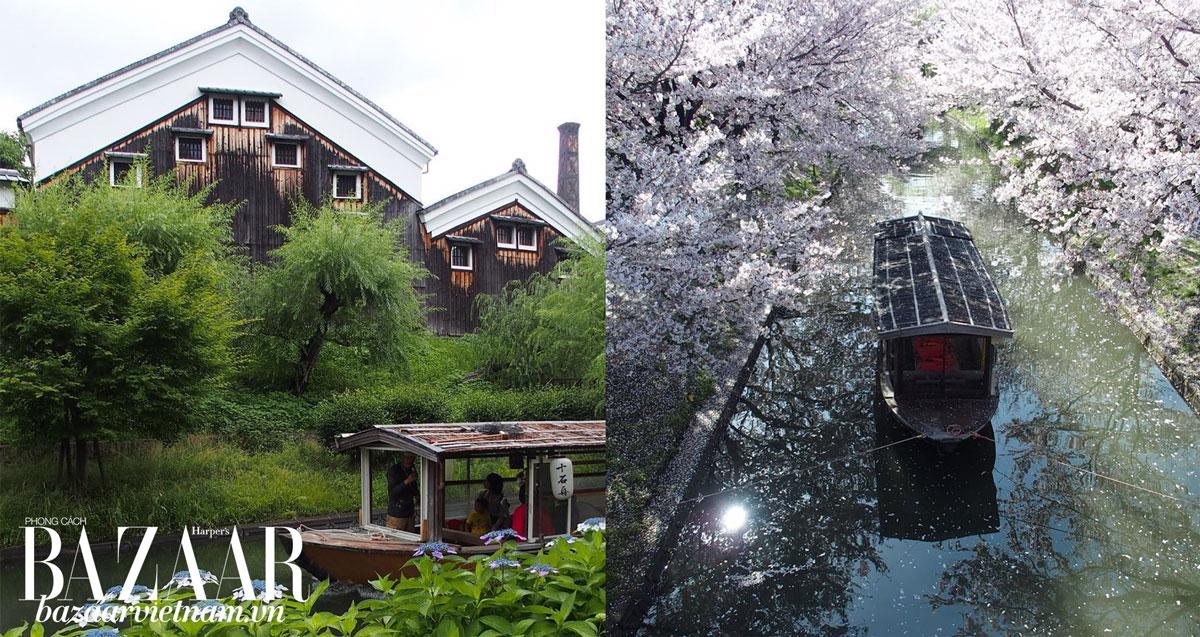 Nhà xưởng làm sake của Gekkeikan tại Kyoto. Ảnh: Instagram Gekkeikan