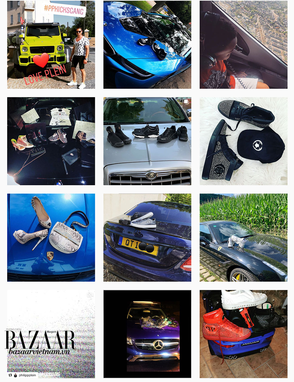 Một loạt chủ nhân của những xe siêu sang ủng hộ Phillip Plein trên Instagram